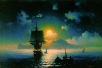 Лунная ночь на Капри (И.К. Айвазовский, 1841 г.)